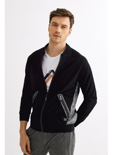 Avva Erkek  Dik Yaka Sweatshirt A01Y1006 Siyah